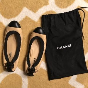Chanel Stretch Spirit CC Ballet Flats